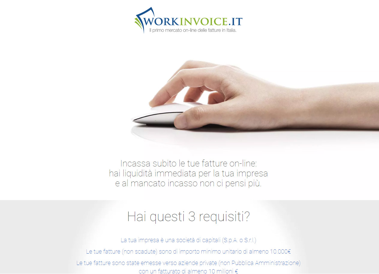 Workinvoice Landing Page